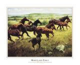 Mares and Foals art print by John Leone
