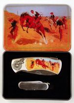 # RCPSKB32HRTS Cowboys and Horses 2 Piece Collectable Pocket Knife Set